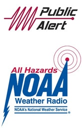 Public Alert and NOAA All Hazards Logos