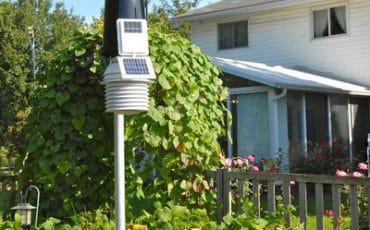 Davis Pro2 weather station in a garden