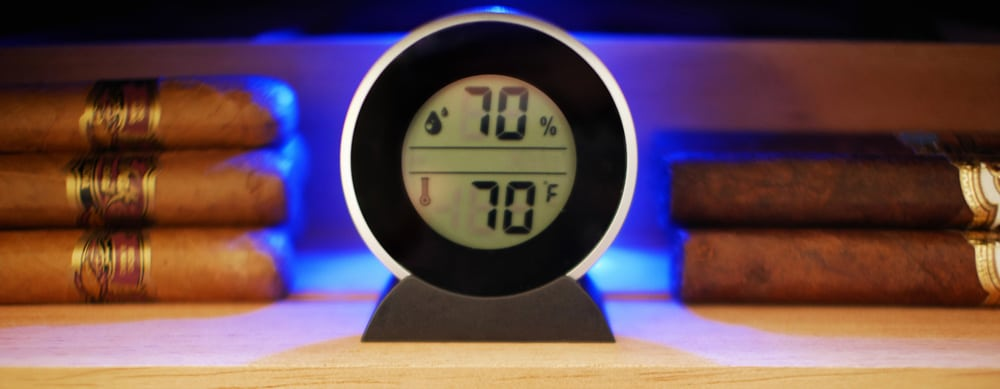 Hygrometer for cigar humidors