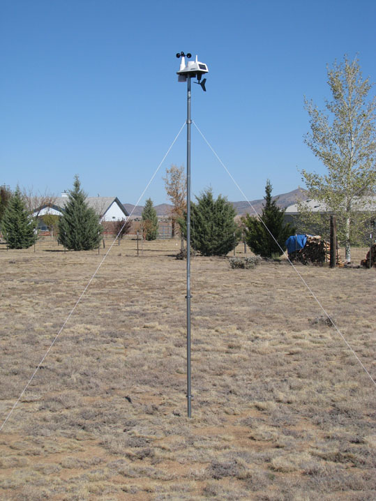 All-in-one rural weather station installation
