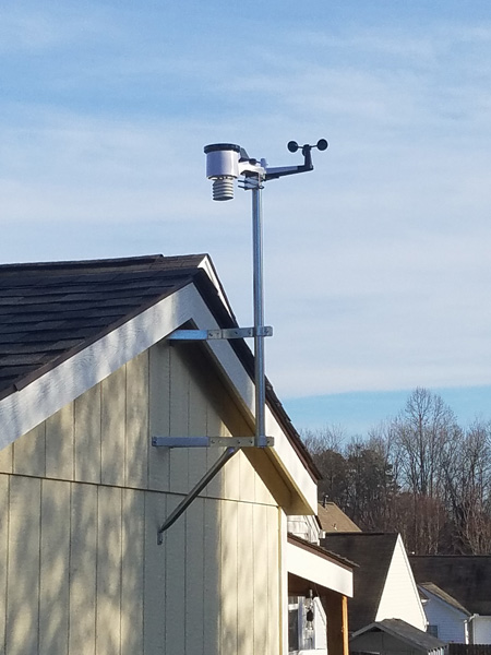 Ambient Weather EZ-30-12 mount installed