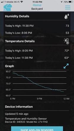 La Crosse Technology view app data
