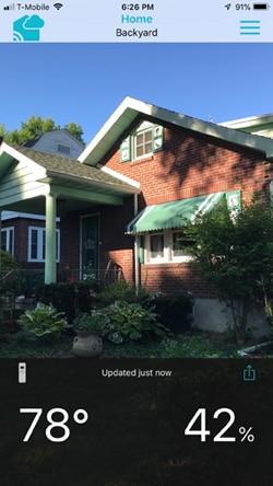 La Crosse Technology view app outdoor sensor