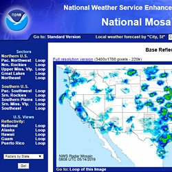 National Weather Service radar