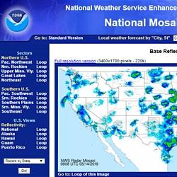 National Weather Service radar
