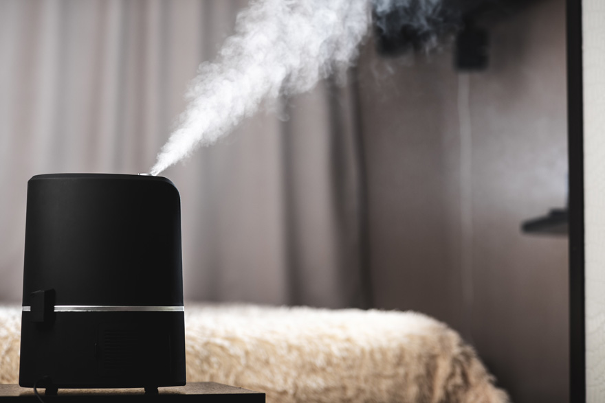 Humidifier placement in bedroom