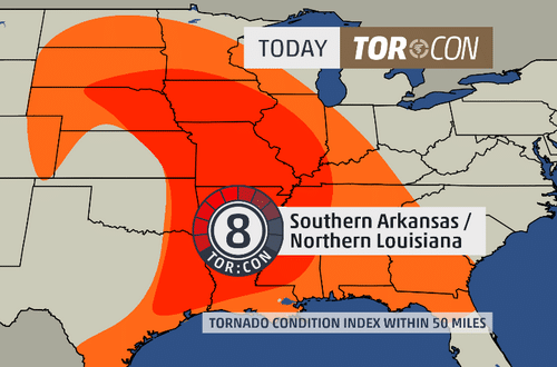 TORCON Index from The Weather Channel