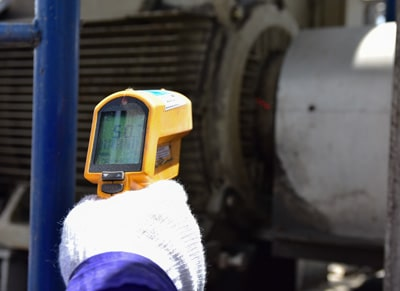 Checking temperature of motor
