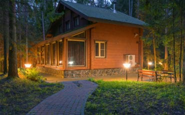 Vacation home in the woods