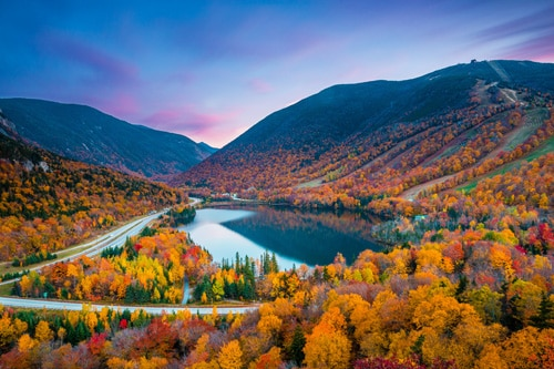 Fall season at White Mountain National Forest